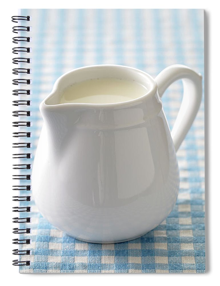 Single Object Spiral Notebook featuring the photograph A Jug Of Cream by Riou
