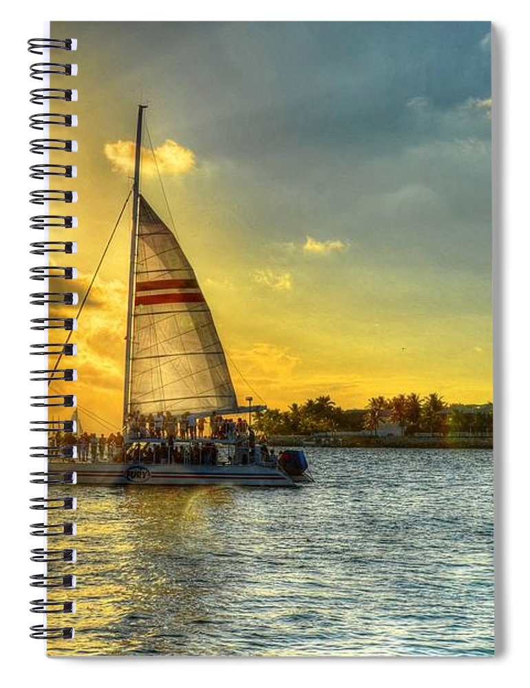 Sail Spiral Notebook featuring the photograph A Yacht Of Fun by Debbi Granruth
