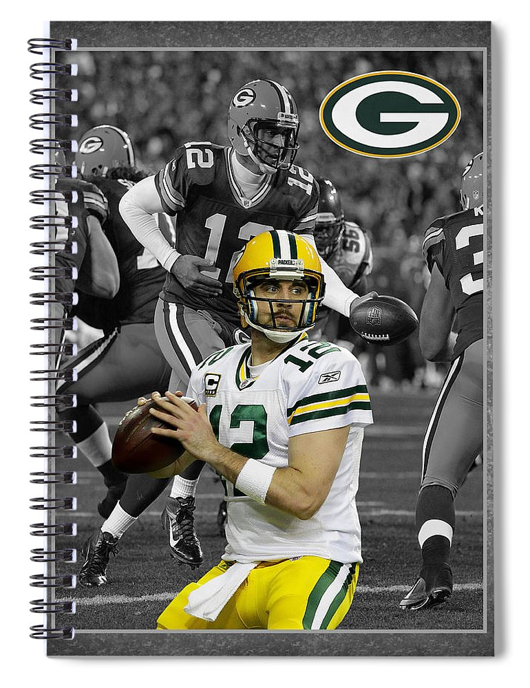 Aaron Rodgers Spiral Notebook featuring the photograph Aaron Rodgers Packers by Joe Hamilton