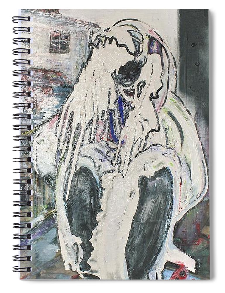 Figurative Spiral Notebook featuring the painting Aasimah by Peggy Blood