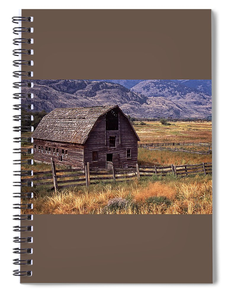 Old Barn Spiral Notebook featuring the photograph Abandoned Barn by Richard Farrington