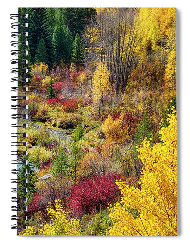 Scenics Spiral Notebook featuring the photograph Abandoned Railway by C. Fredrickson Photography