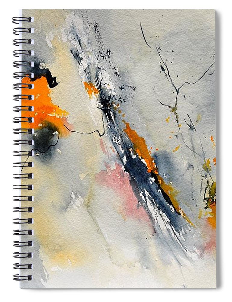 Abstract Spiral Notebook featuring the painting Abstract 416032 by Pol Ledent