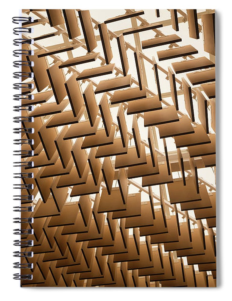 Material Spiral Notebook featuring the photograph Abstract Architectural Pattern by Lena serditova