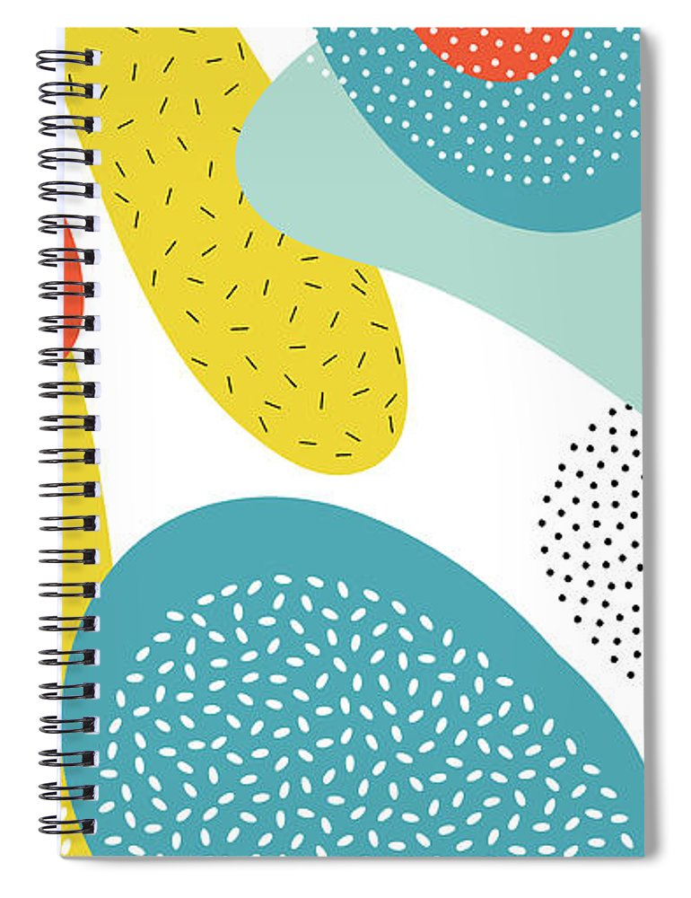 Magazine Cover Spiral Notebook featuring the digital art Abstract Art Color Vector Lines And by Chaluk