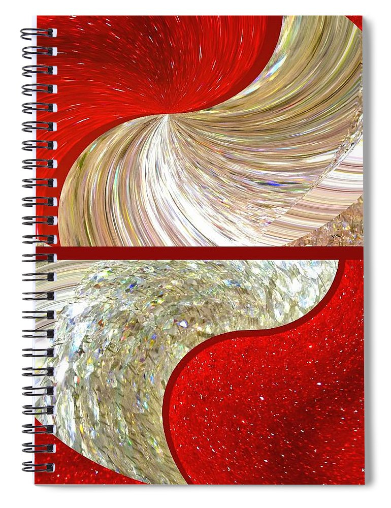 Abstract Fusion 218 Spiral Notebook featuring the digital art Abstract Fusion 218 by Will Borden