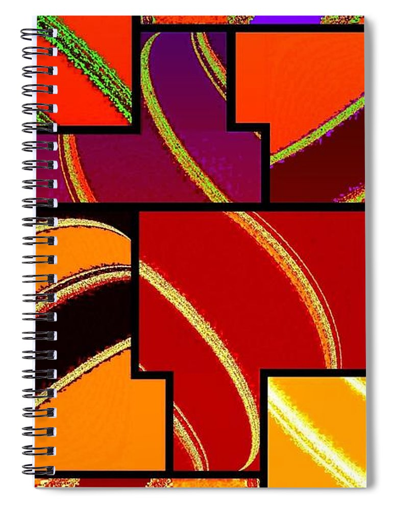 Abstract Fusion 232 Spiral Notebook featuring the digital art Abstract Fusion 232 by Will Borden