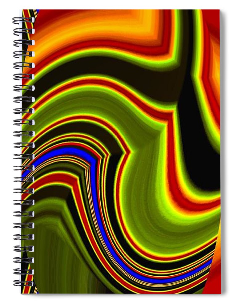 Abstract Fusion 234 Spiral Notebook featuring the digital art Abstract Fusion 234 by Will Borden