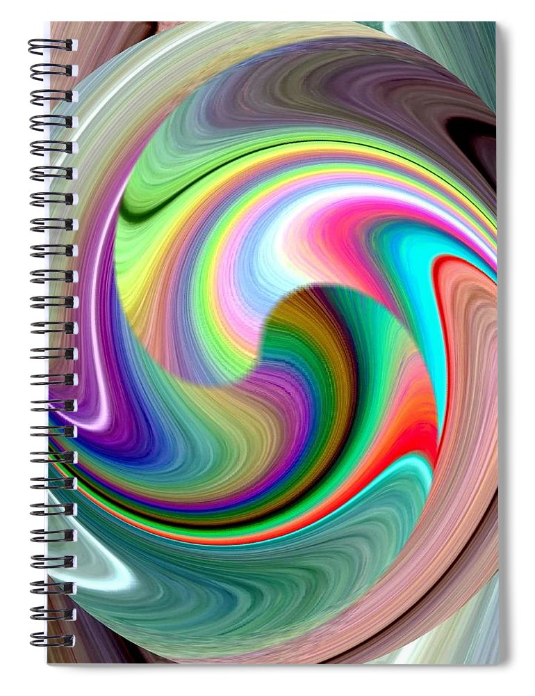 Abstract Fusion 241 Spiral Notebook featuring the digital art Abstract Fusion 241 by Will Borden
