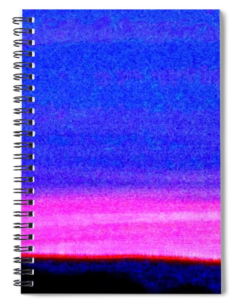 Abstract Spiral Notebook featuring the photograph Abstract Landscape by Eric Schiabor