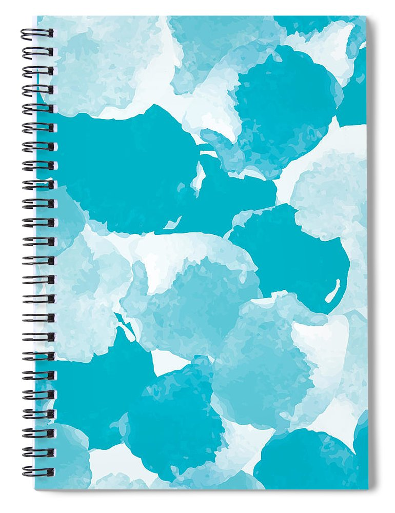 Watercolor Painting Spiral Notebook featuring the digital art Abstract Painting Universal Freehand by Irinabogomolova