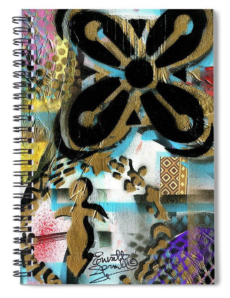 Everett Spruill Spiral Notebook featuring the painting Abundance by Everett Spruill