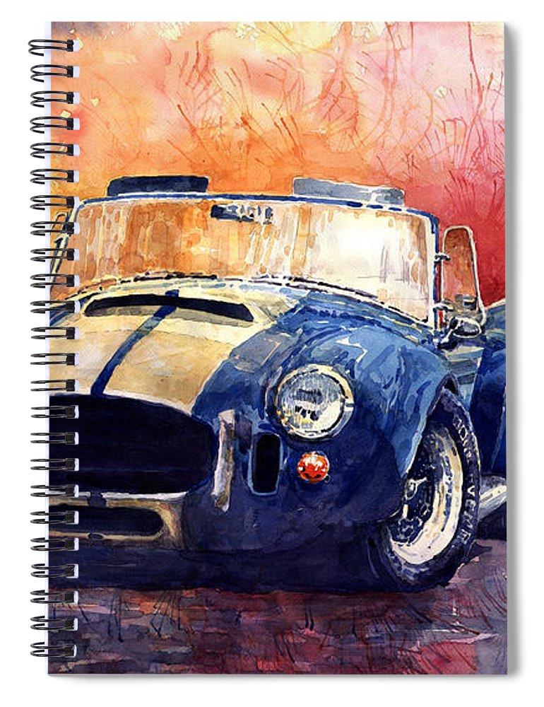 Shevchukart Spiral Notebook featuring the painting AC Cobra Shelby 427 by Yuriy Shevchuk