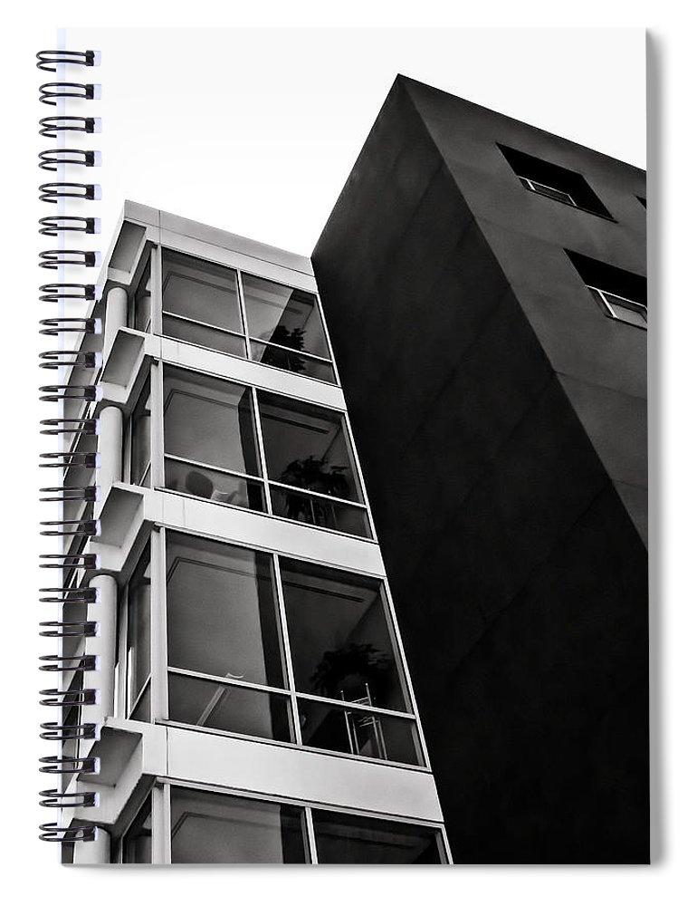Abstract Spiral Notebook featuring the digital art Acute Insight by Douglas Pittman