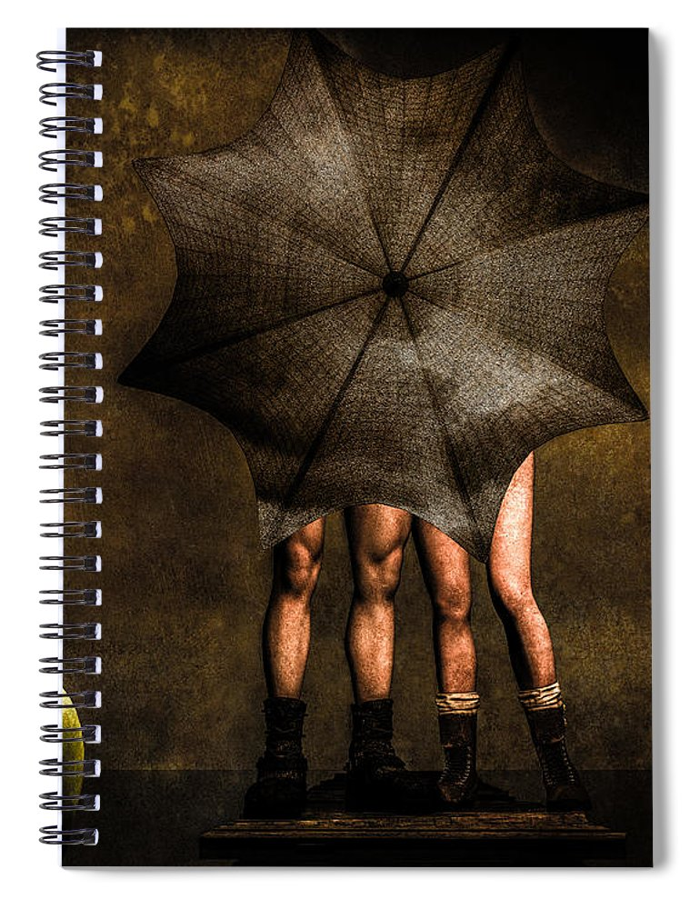 Adam Spiral Notebook featuring the photograph Adam And Eve by Bob Orsillo