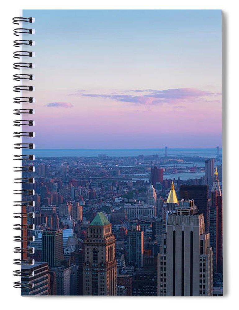 Tranquility Spiral Notebook featuring the photograph Aerial View Of Empire State And Midtown by Future Light