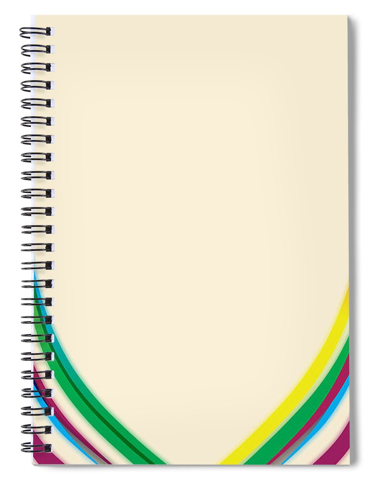 Gary Grayson Spiral Notebook featuring the digital art After Morris Louis 2  by Gary Grayson e71ca0b3f90b8