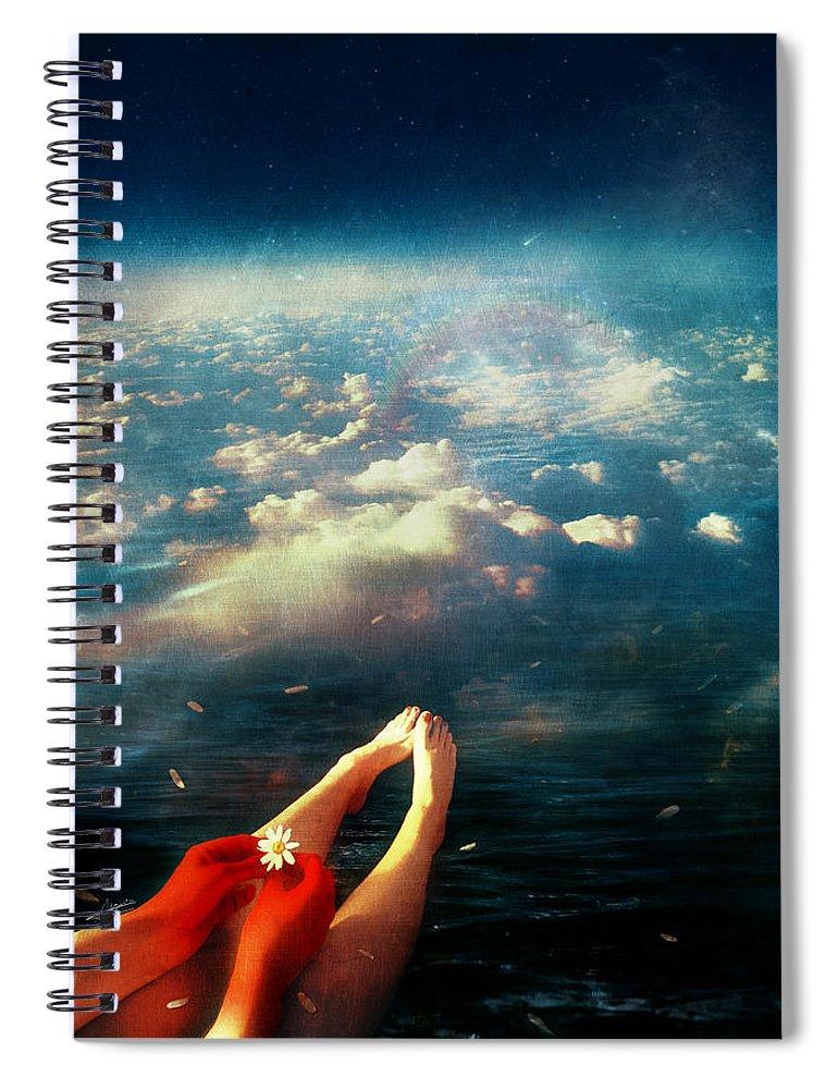 Again Spiral Notebook featuring the digital art Again by Mario Sanchez Nevado