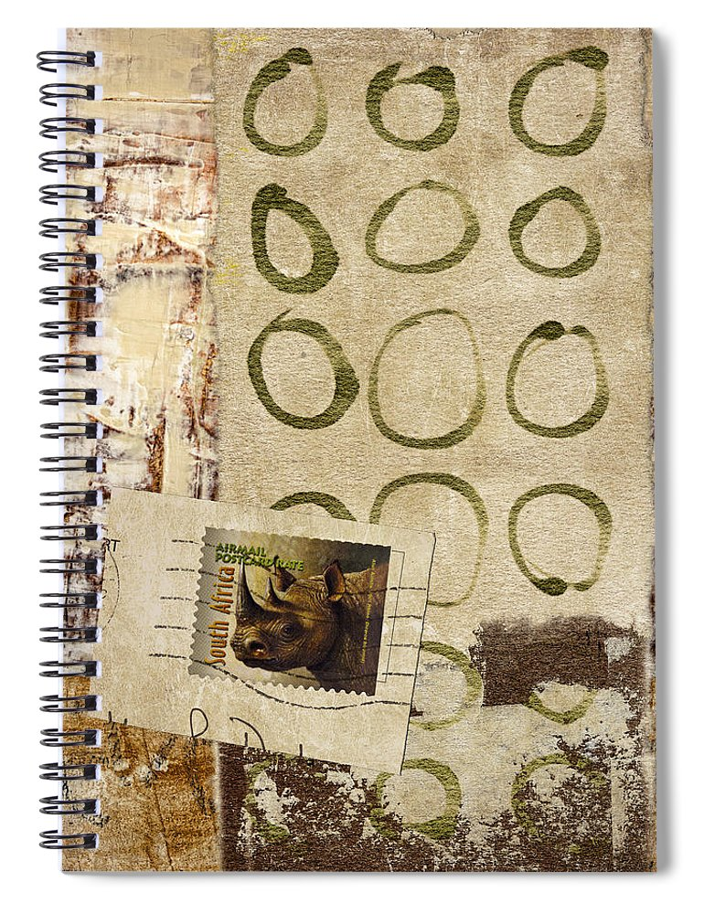Collage Spiral Notebook featuring the photograph Air Mail South Africa by Carol Leigh