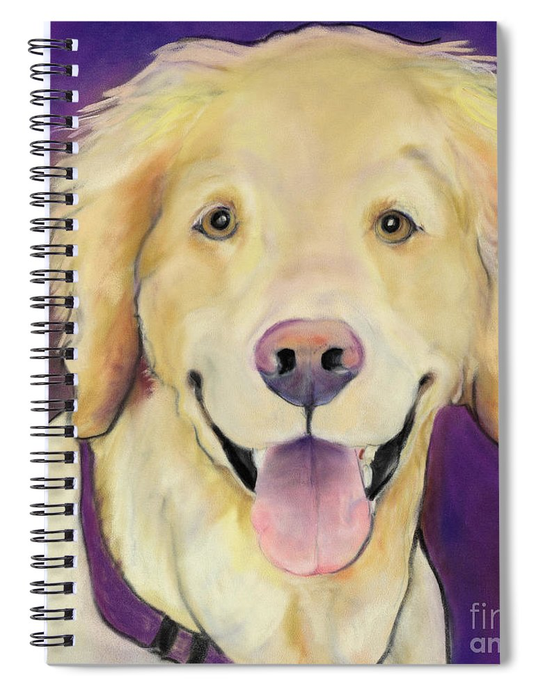 Purple Painting Spiral Notebook featuring the painting Alex by Pat Saunders-White