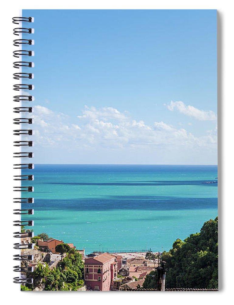 Scenics Spiral Notebook featuring the photograph Amalfi Coast Landscape Vietri Village by Angelafoto