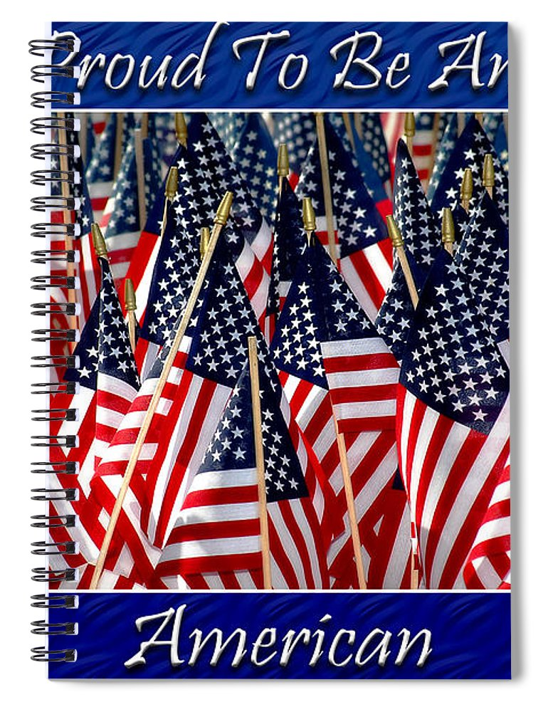 American Spiral Notebook featuring the photograph American Pride by Carolyn Marshall