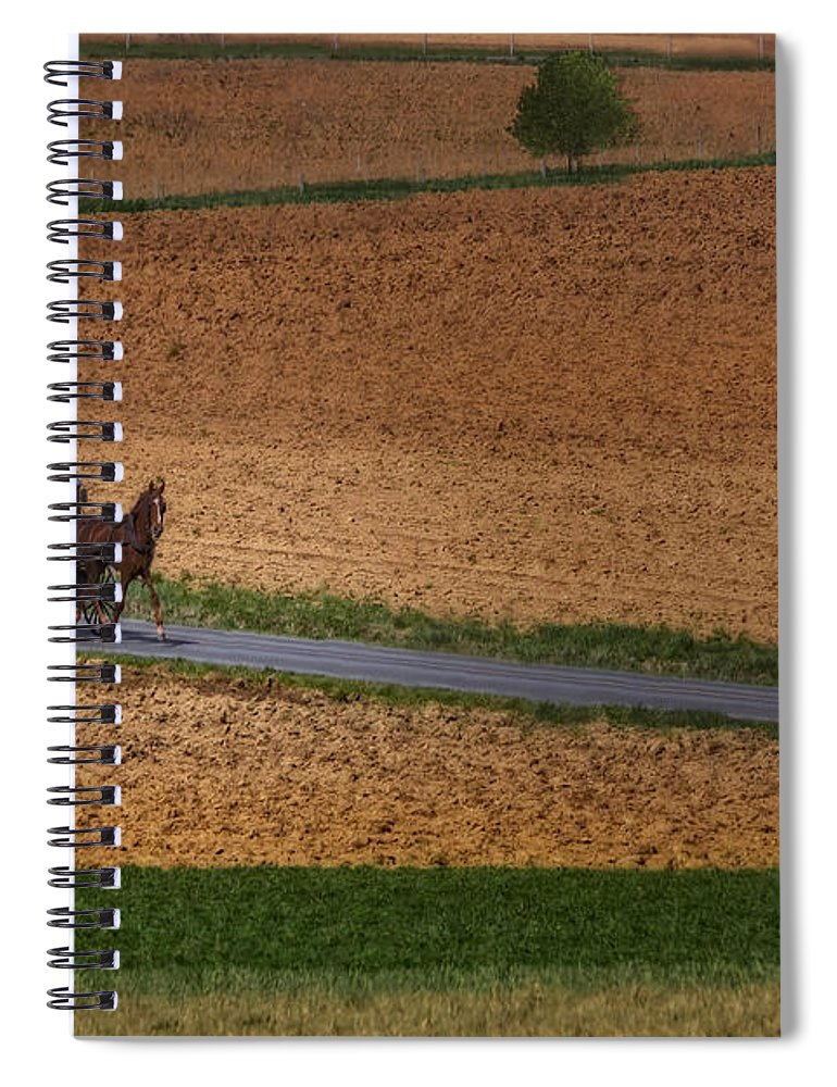 Amish Spiral Notebook featuring the photograph Amish Country Lancaster Pennsylvania by Susan Candelario