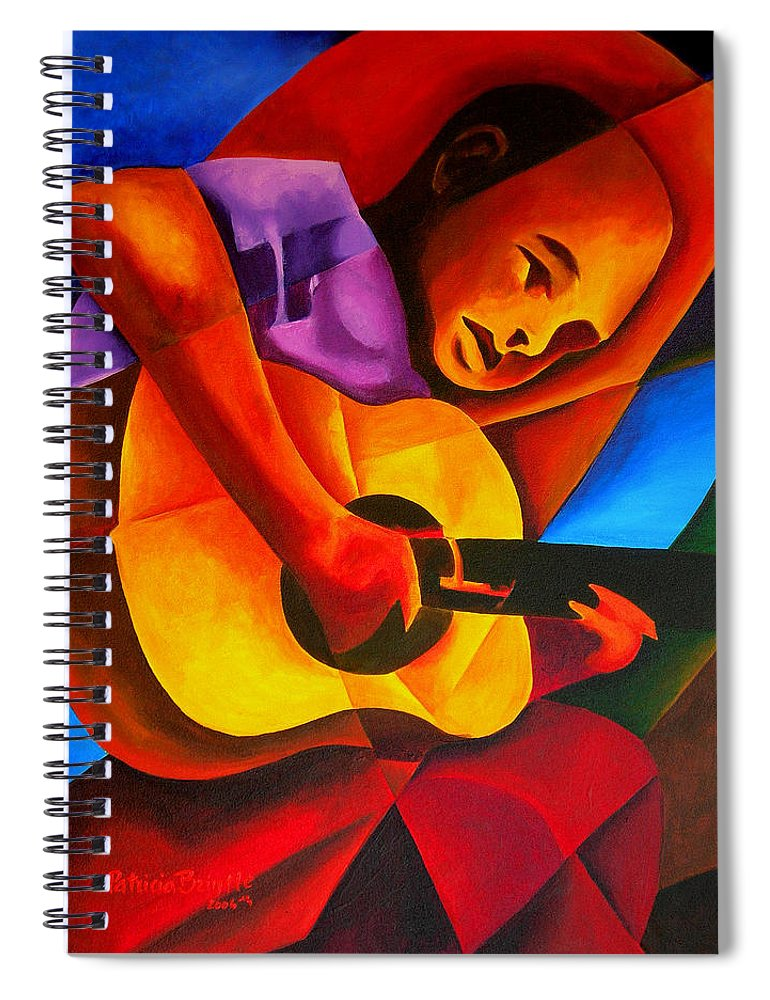 Male Spiral Notebook featuring the painting Andres by Patricia Brintle