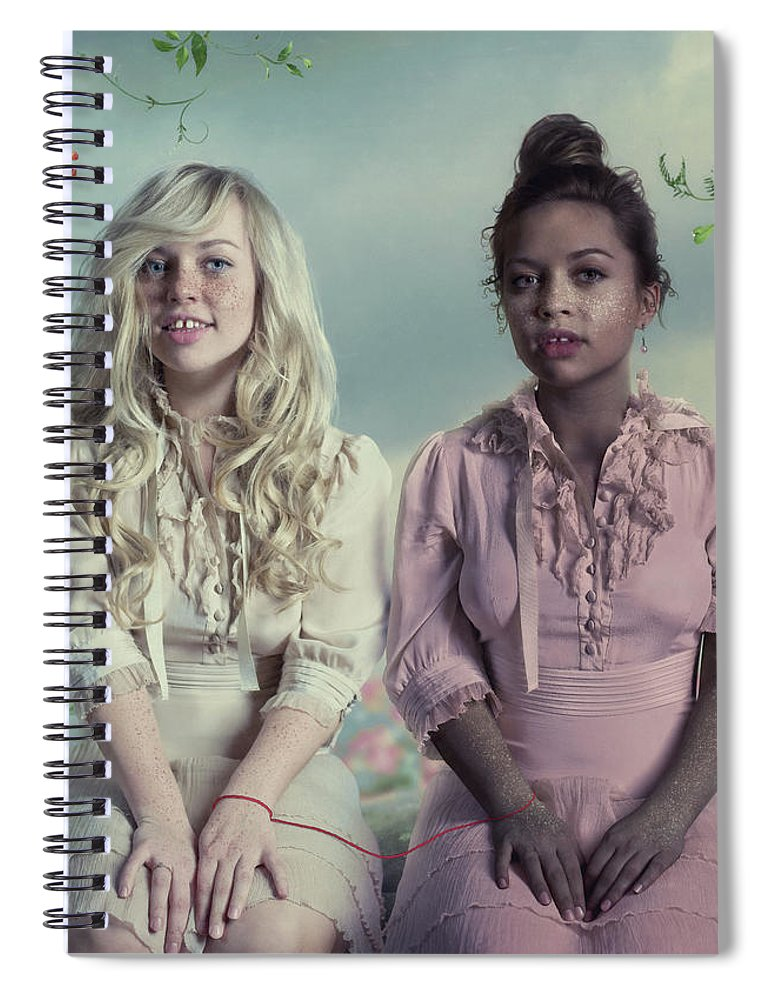 People Spiral Notebook featuring the photograph Another Twins by Vizerskaya