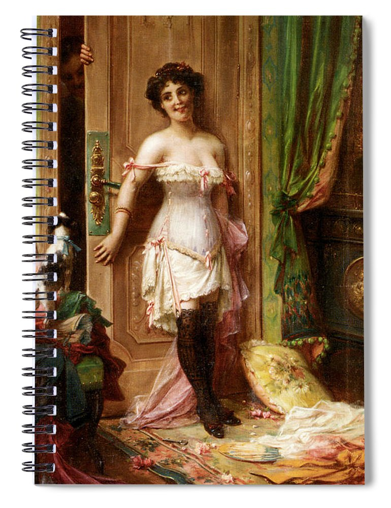Anticipation Spiral Notebook featuring the digital art Anticipation by Hanz Zatzka