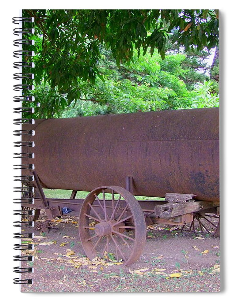 Water Tank Spiral Notebook featuring the photograph Antique Water Tank - No 2 by Mary Deal