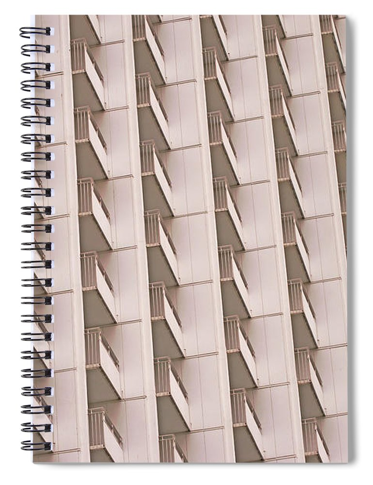 Apartment Spiral Notebook featuring the photograph Apartment Building With Balcony by Eplisterra
