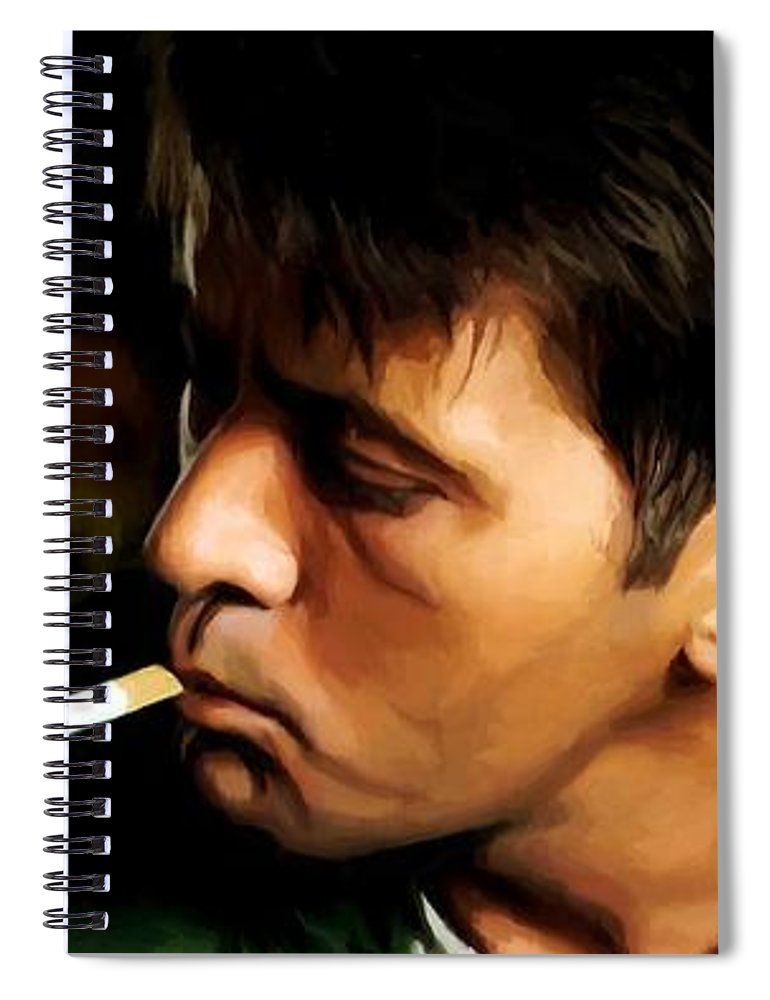 Martin Sheen Spiral Notebook featuring the digital art Apocalypse Now Painting #1 by Gabriel T Toro