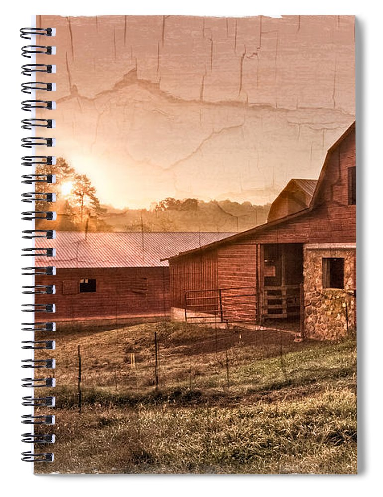 Appalachia Spiral Notebook featuring the photograph Appalachian Barns by Debra and Dave Vanderlaan