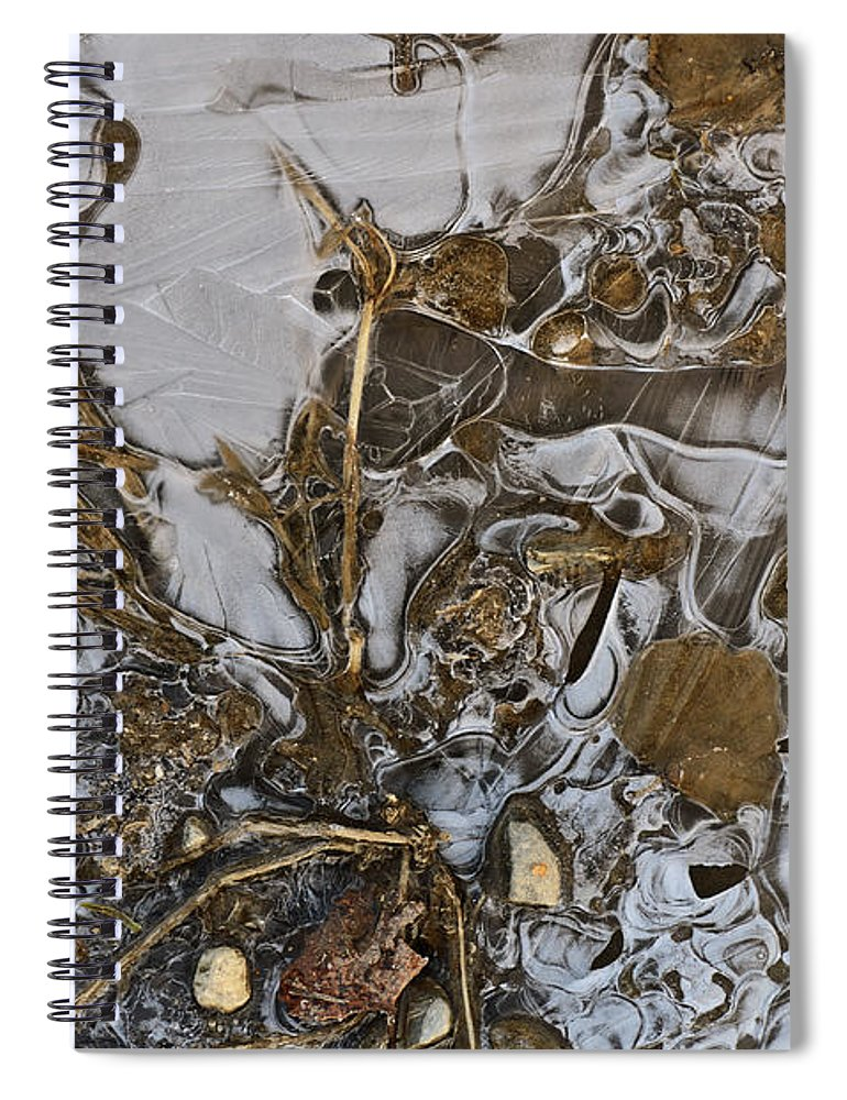 Ice Spiral Notebook featuring the photograph Apparitions On Ice by Susan Capuano