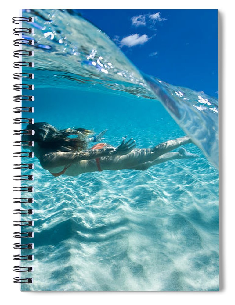 Underwater Spiral Notebook featuring the photograph Aqua Dive by Sean Davey