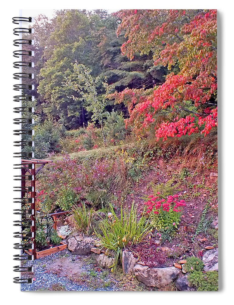 Duane Mccullough Spiral Notebook featuring the photograph Arbor And Fall Colors by Duane McCullough