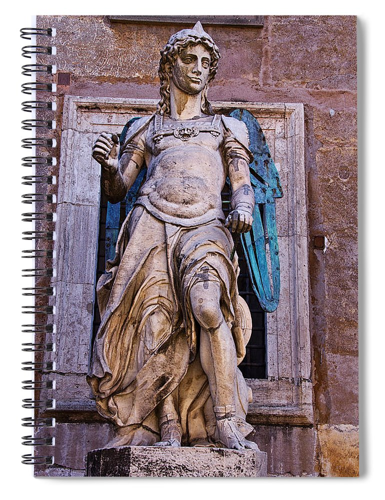 Archangel Spiral Notebook featuring the photograph Archangel Michael by David Pringle