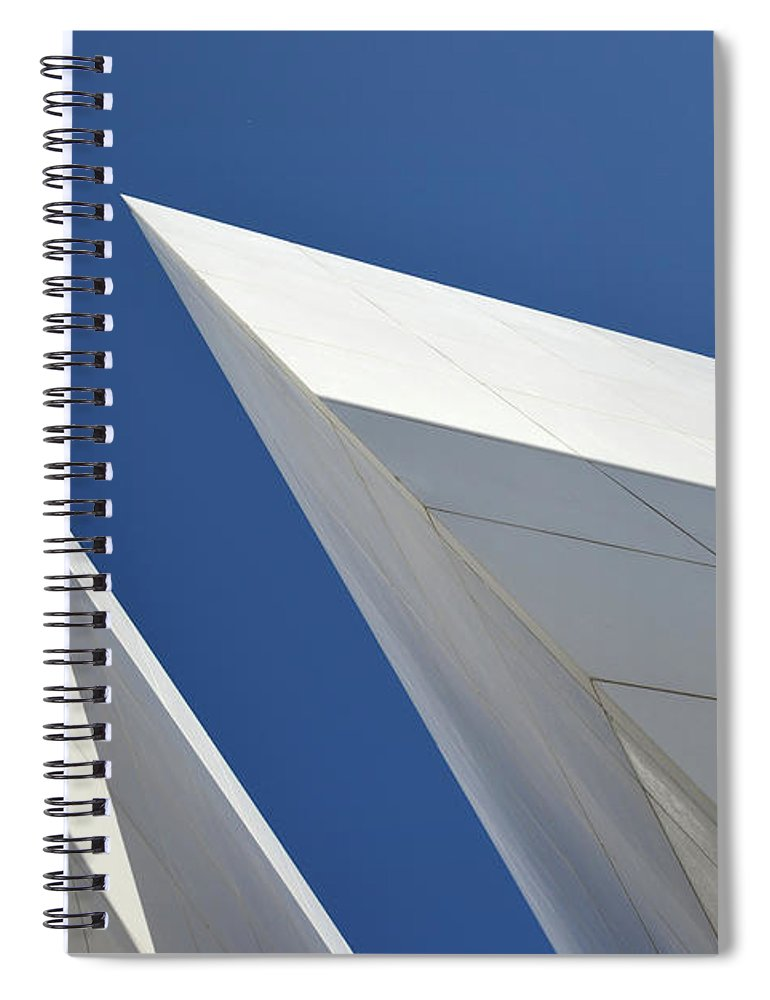 Tranquility Spiral Notebook featuring the photograph Architectural Details by Martial Colomb