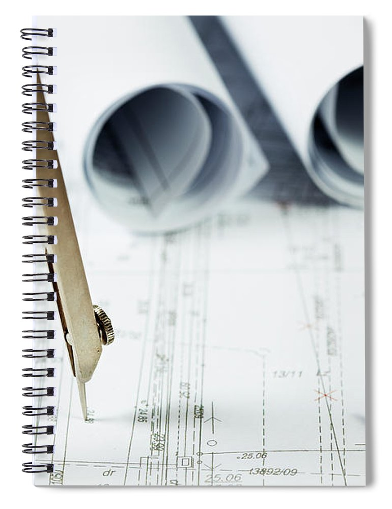 Civil Engineering Spiral Notebook featuring the photograph Architecture Planning by Kalasek