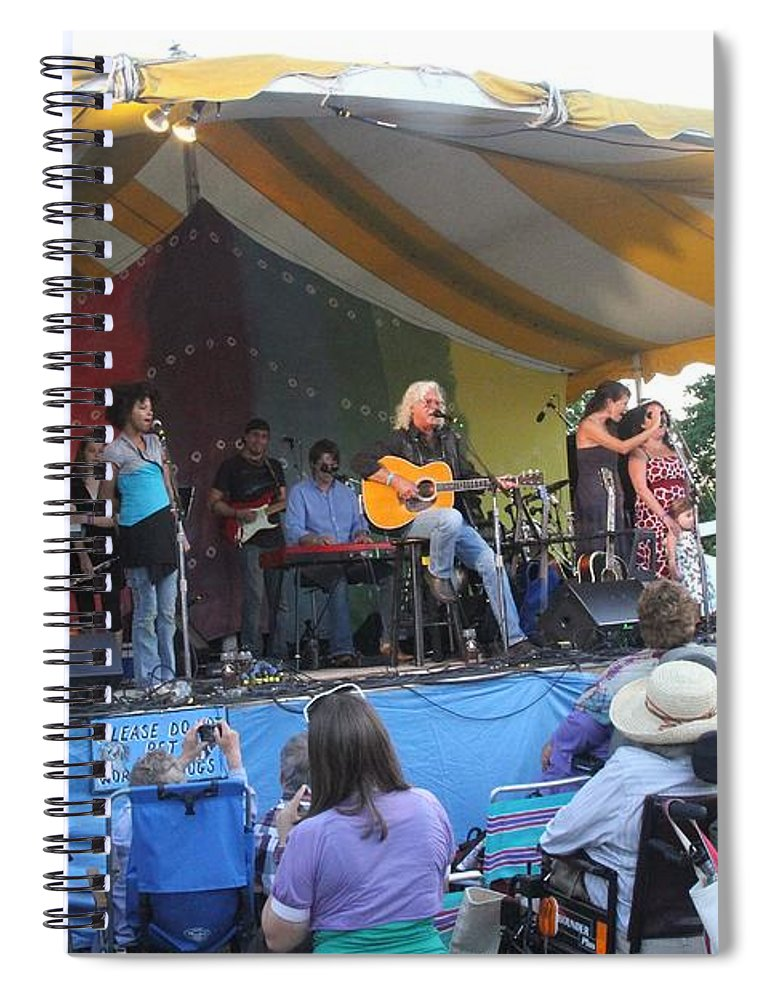 Arlo Guthrie & Family Spiral Notebook featuring the photograph Arlo Guthrie And Family by Concert Photos