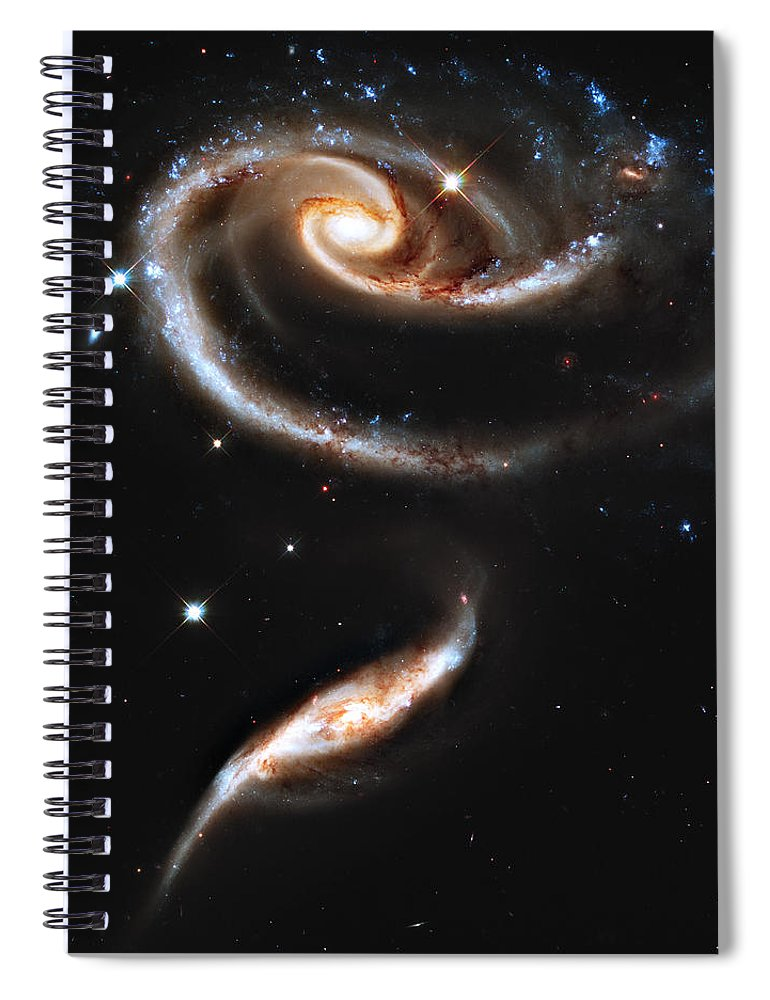 Arp Spiral Notebook featuring the photograph Arp 273 Rose Galaxies by Ricky Barnard