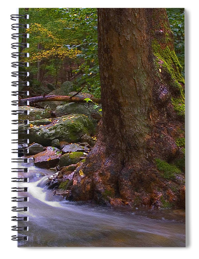 River Spiral Notebook featuring the photograph As The River Runs by Karol Livote
