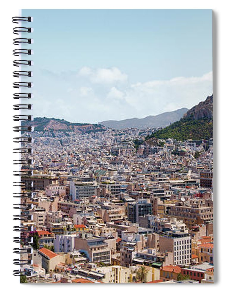 Greek Culture Spiral Notebook featuring the photograph Athens Panorama View From The Acropolis by Ed Freeman