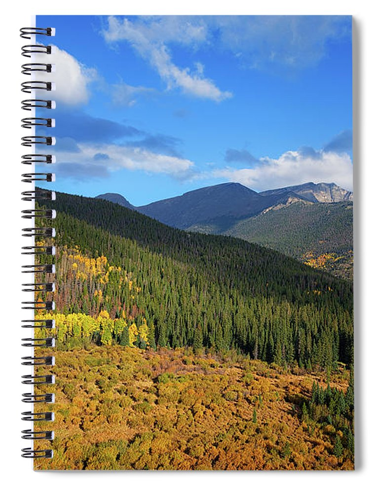 Scenics Spiral Notebook featuring the photograph Autumn Color In Colorado Rockies by A L Christensen
