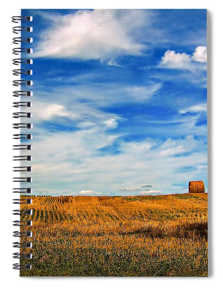 Ontario Spiral Notebook featuring the photograph Autumn Sky by Steve Harrington