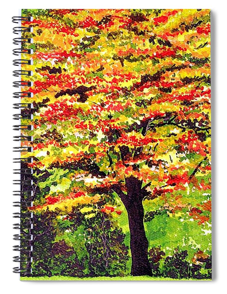 Fine Art Spiral Notebook featuring the painting Autumn Splendor by Patricia Griffin Brett