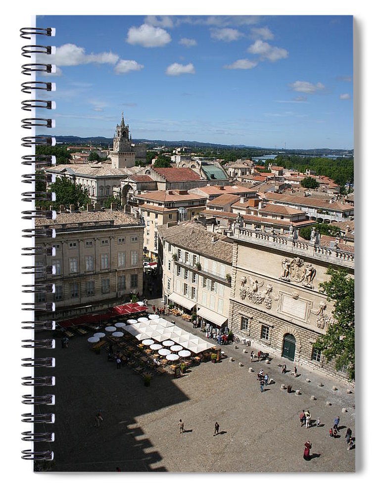 Palace Spiral Notebook featuring the photograph Avigon Square by Christiane Schulze Art And Photography