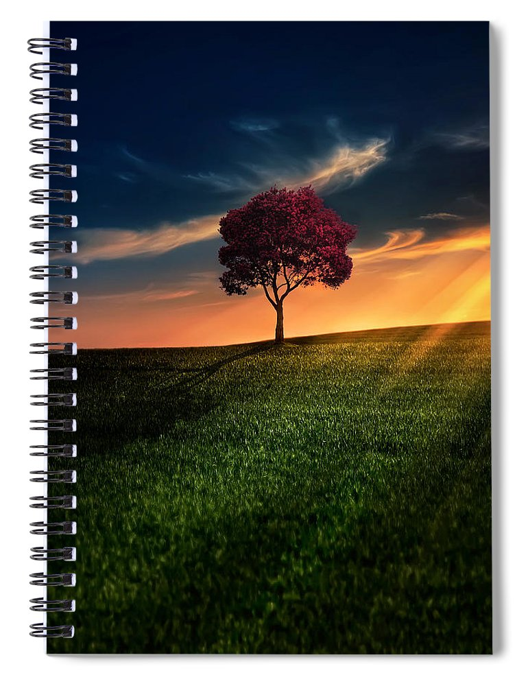 Agriculture Spiral Notebook featuring the photograph Awesome Solitude by Bess Hamiti