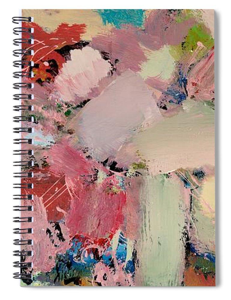 Landscape Spiral Notebook featuring the painting Azaleas by Allan P Friedlander